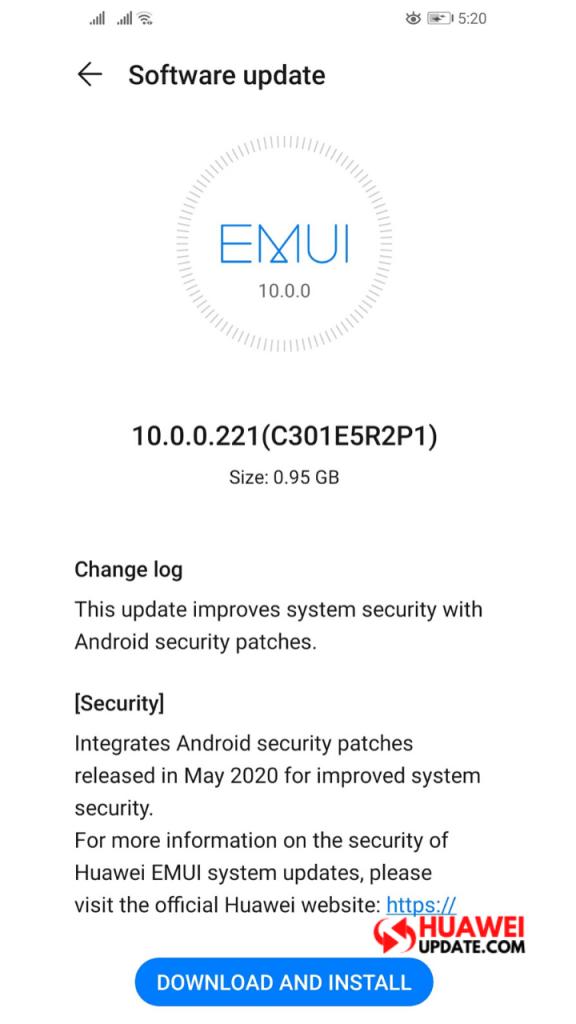 Huawei P30 Lite May 2020 update
