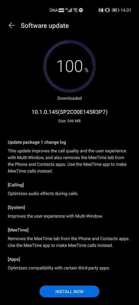 Huawei P40 Pro+ EMUI 10.1.0.145