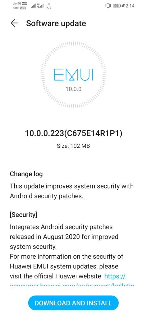Honor 8X EMUI 10.0.0.225