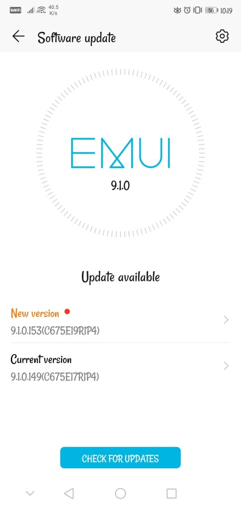 Honor 9N August 2020 patch