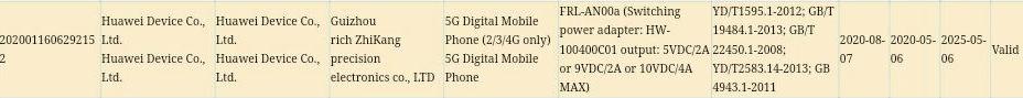 Huawei Enjoy 20 Plus 3C