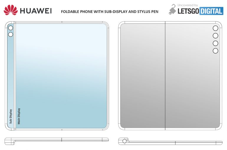 Huawei's foldable phone with sub-display and stylus pen image