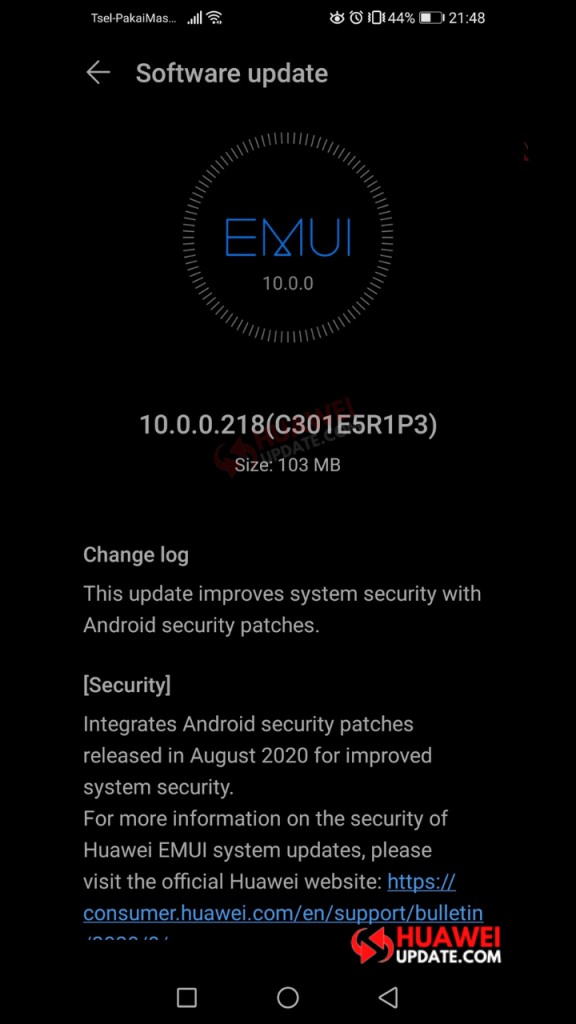 Honor 10 Lite EMUI 10.0.0.218