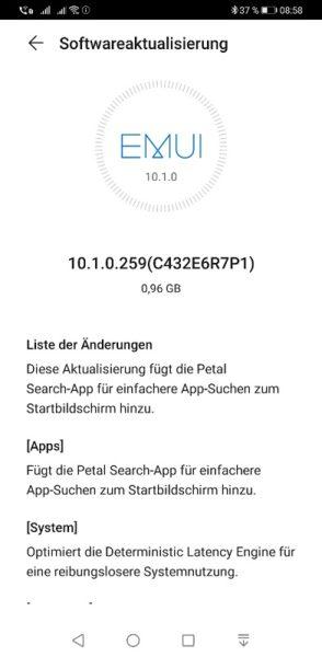 Huawei Mate 30 Pro EMUI 10.1.0.259