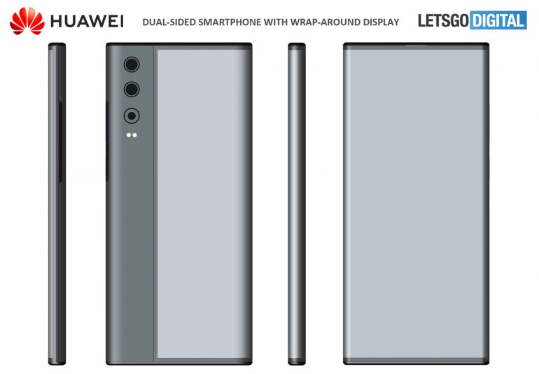 Huawei double-sided smartphone patent