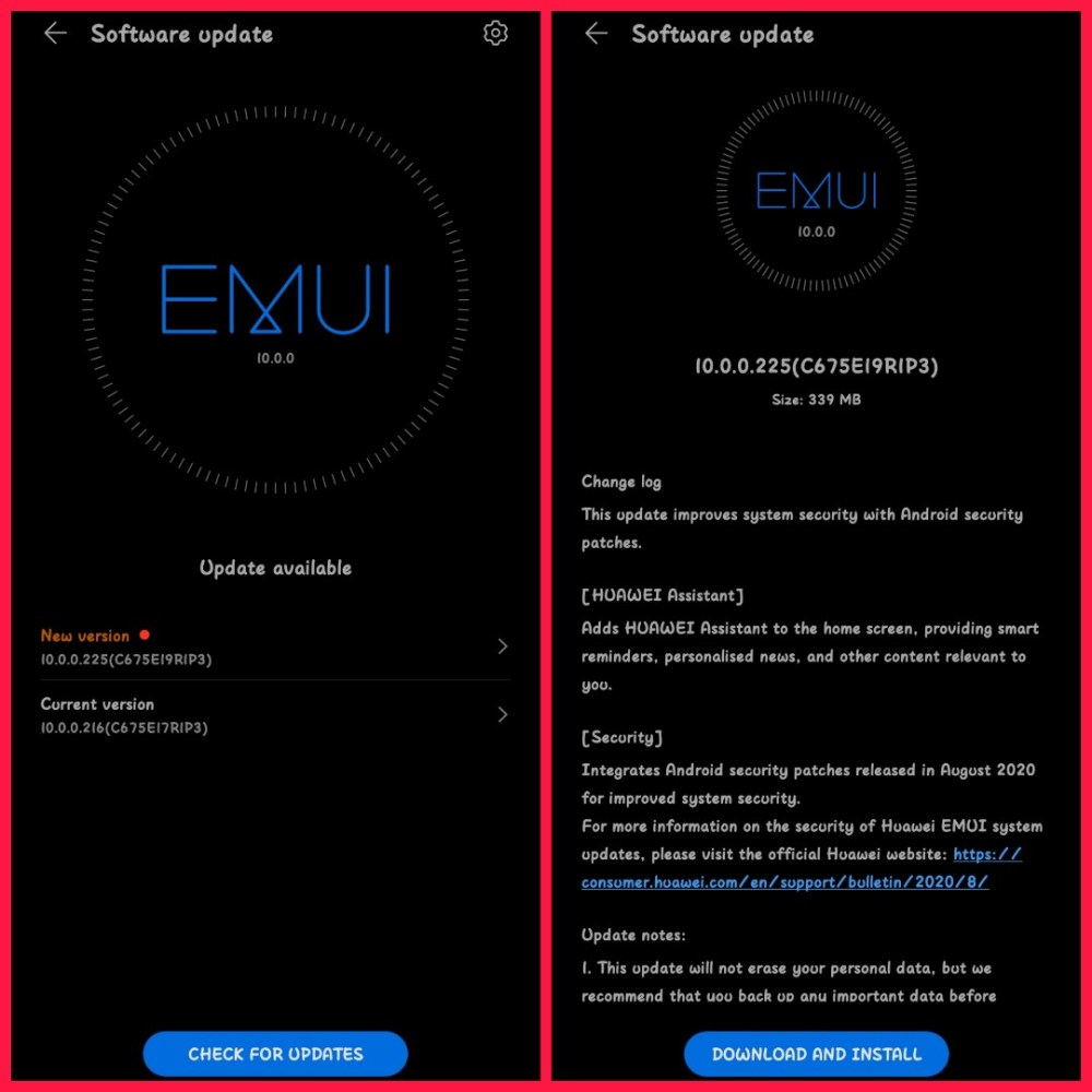 Honor 10 Lite EMUI 10.0.0.225