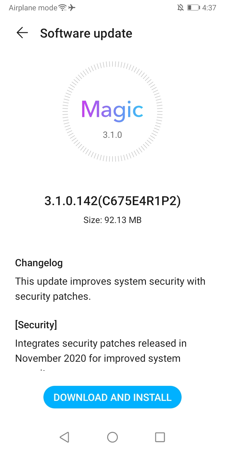 Honor 9S November Patch