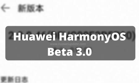 Huawei HarmonyOS Beta 3.0