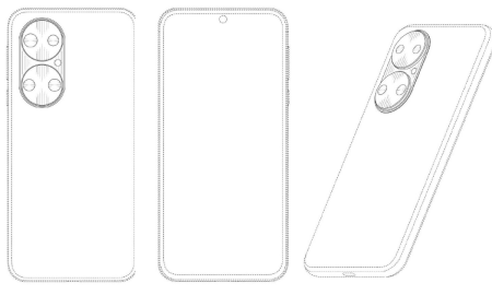 Huawei P50 Standard Edition CAD image