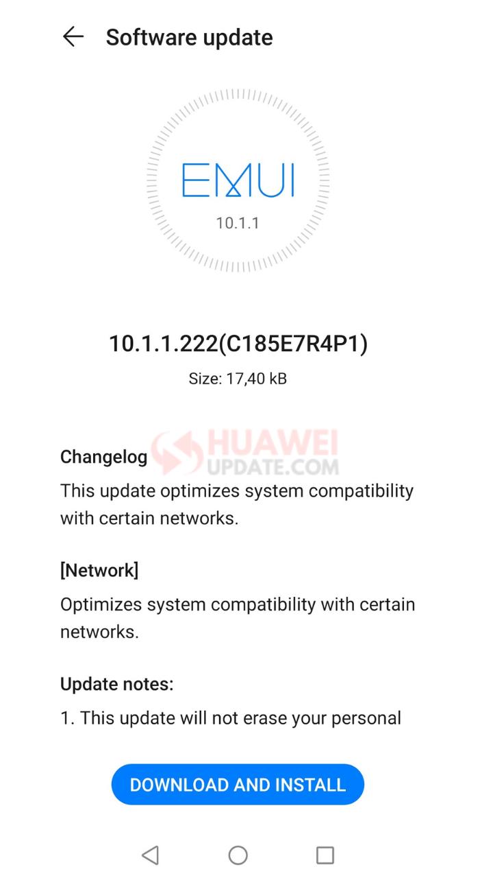 Huawei Nova 7 SE EMUI 10.1.1.222