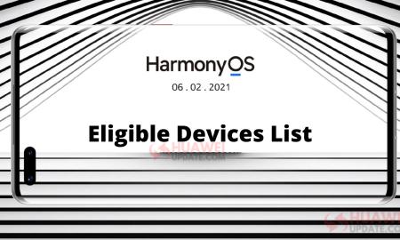 Eligible Huawei HarmonyOS Phones List