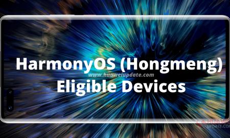 HarmonyOS (Hongmeng) Eligible Devices