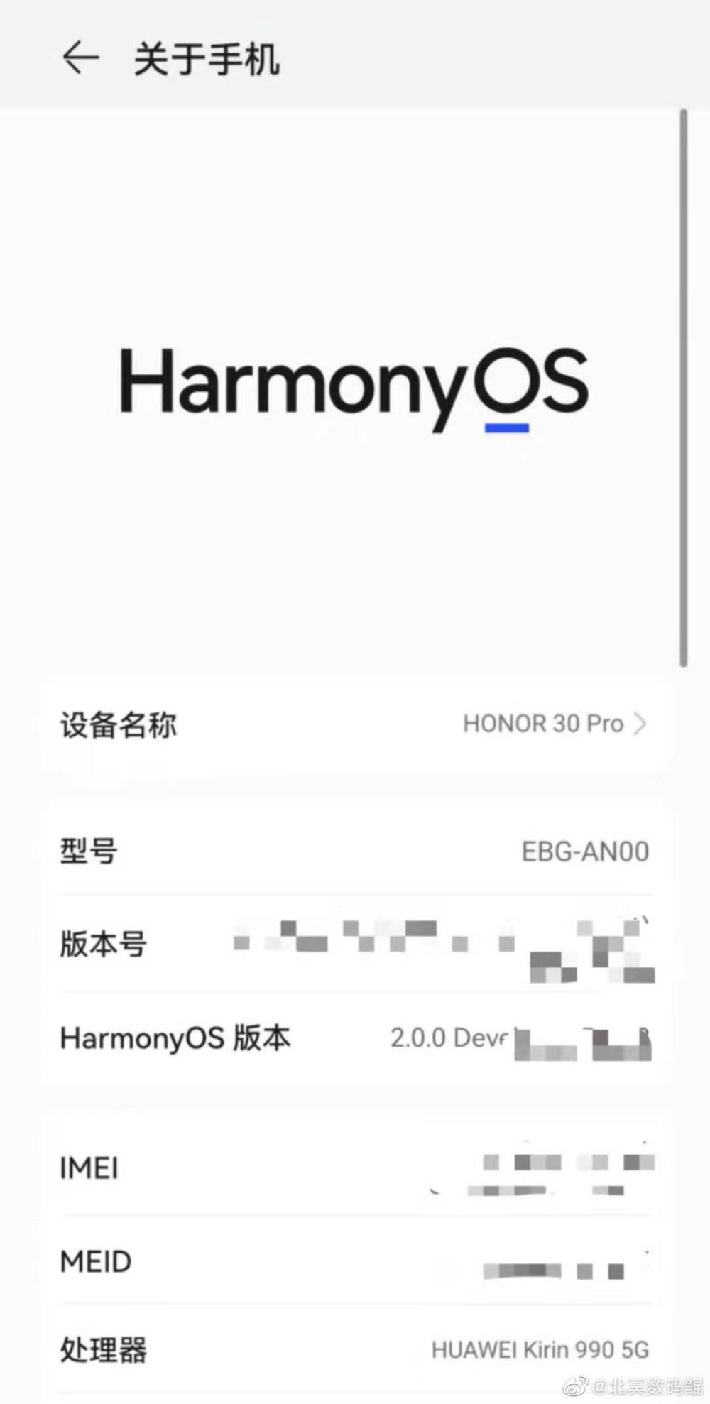 Honor 30 Pro HarmonyOS 2.0 beta testing