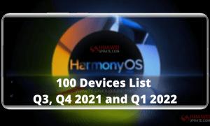 100 HarmonyOS 2 Eligible Devices List