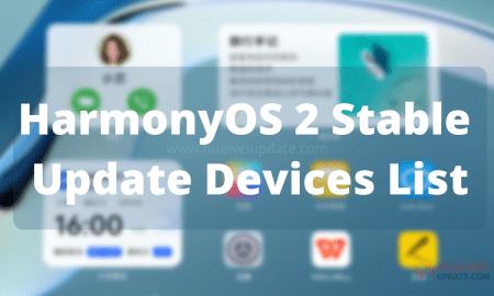 Stable HarmonyOS Update List