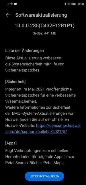 Huawei Mate 20 Lite EMUI 10.0.0.285