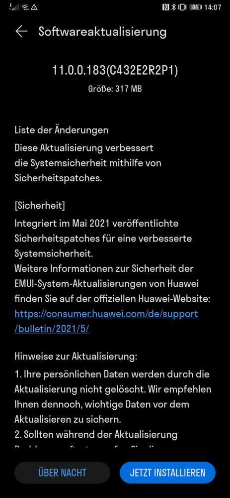 Huawei Mate Xs EMUI 11.0.0.183