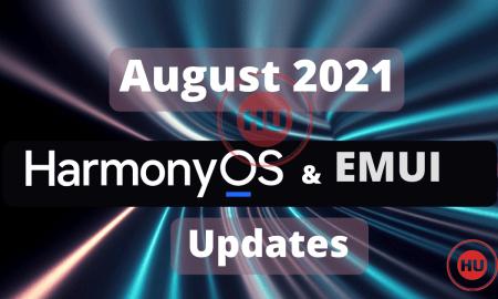 August 2021 HarmonyOS and EMUI updates