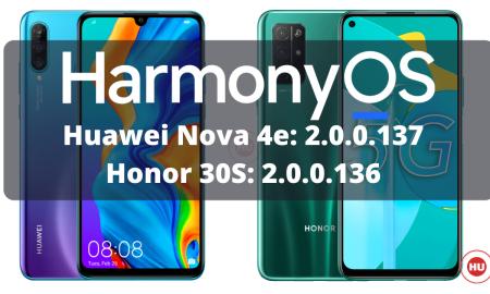 HarmonyOS 2.0.0.136 and 137