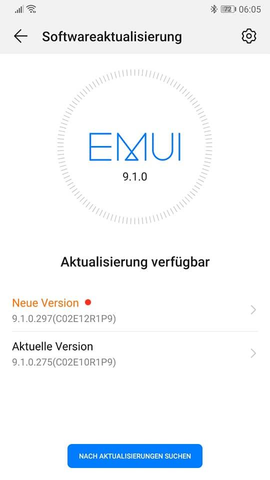 Huawei P10 EMUI 9.1.0.297