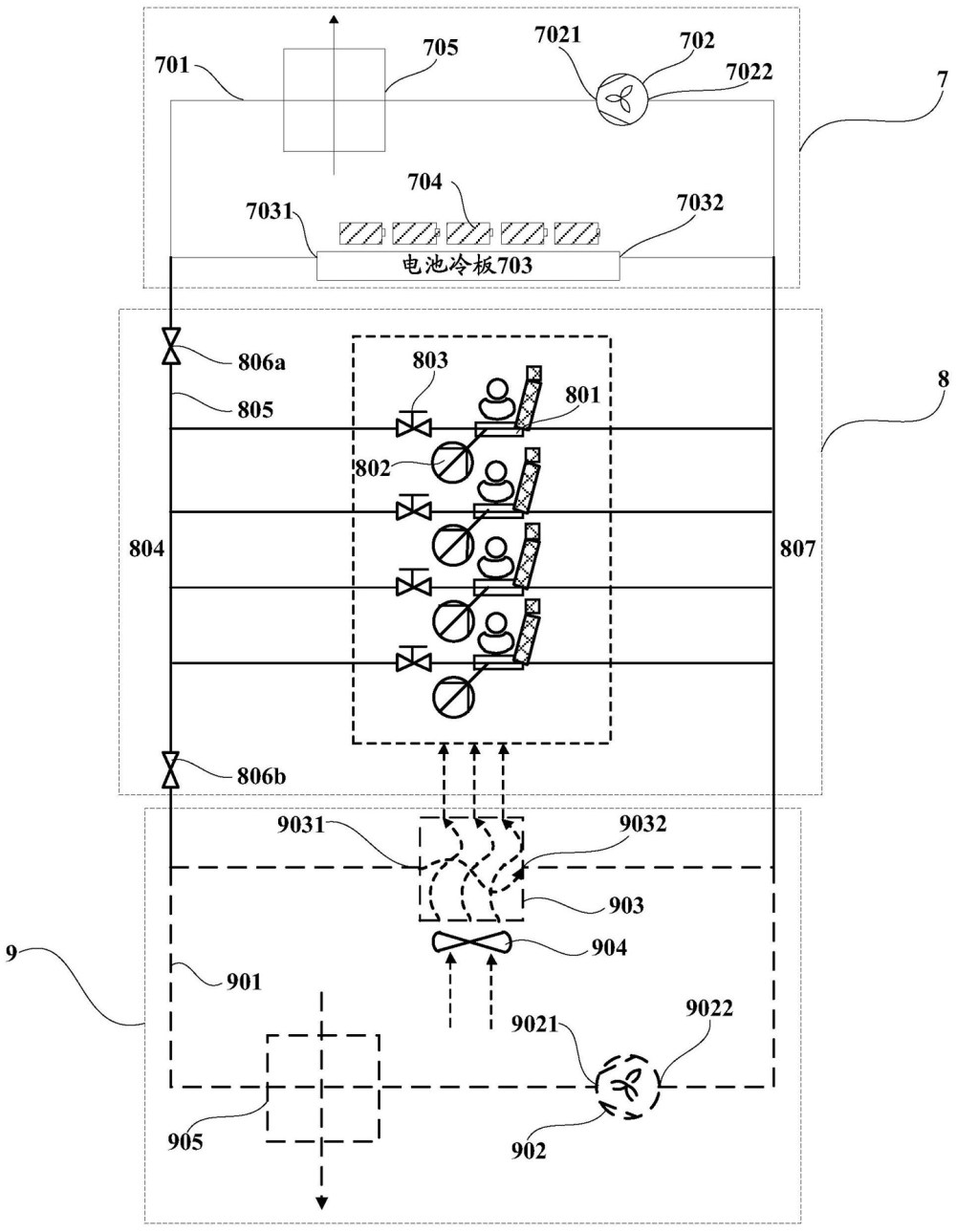 Huawei thermal management system and electric vehicle patent