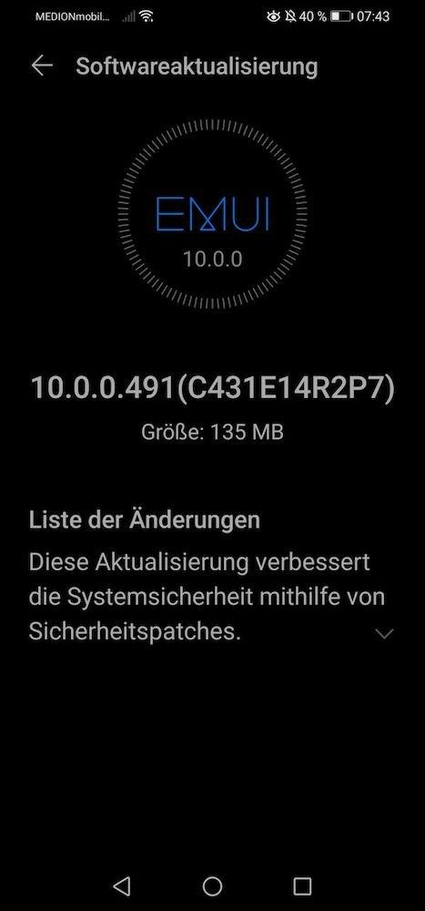 Huawei P30 Lite EMUI 10.0.0.491