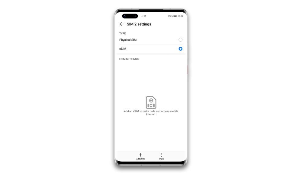 Add eSIM in Huawei Phone