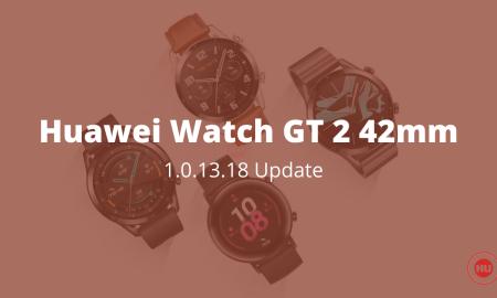 Watch GT 2 42mm 1.0.13.18 update