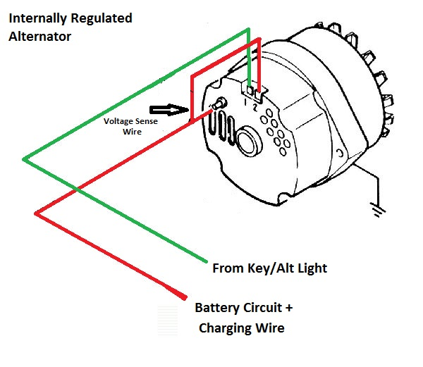 one wire gm alternator wiring  wiring diagram conductor