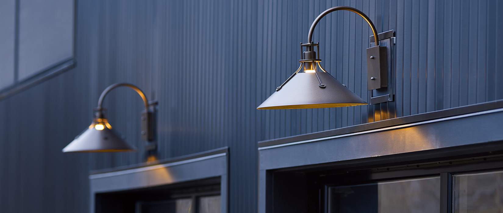 a warm welcome outdoor lighting at its