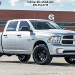 2018 Dodge Ram 1500 Fuel D670 Tech Wheels Matte Black