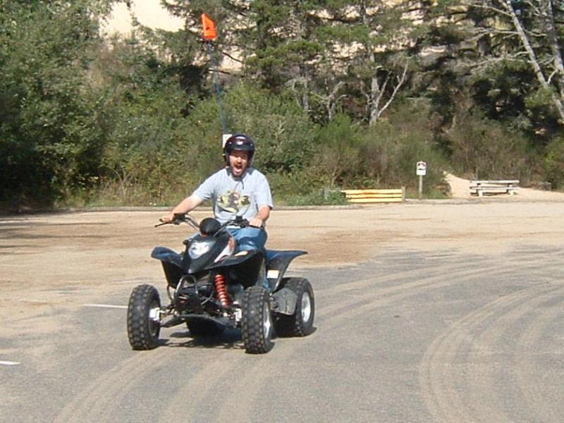 Ben on a quad