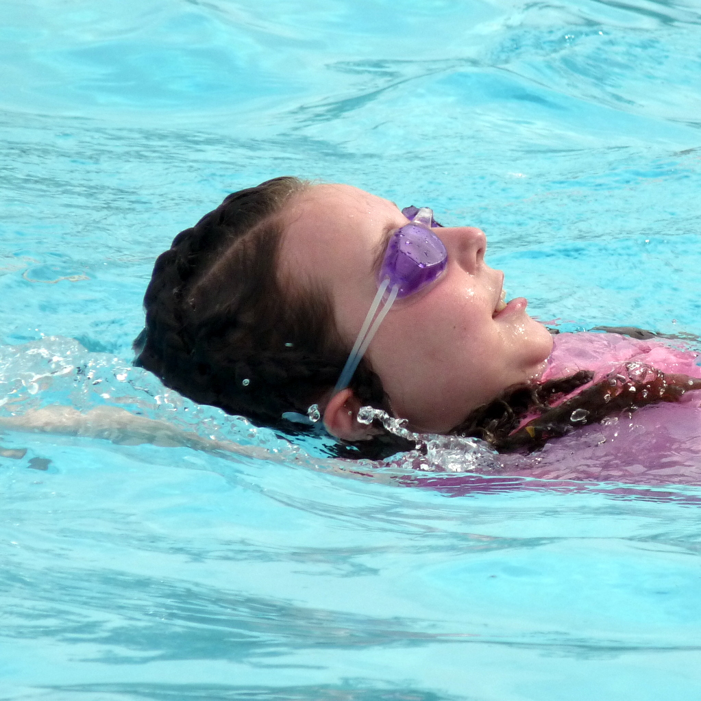picture of Mikaela swimming