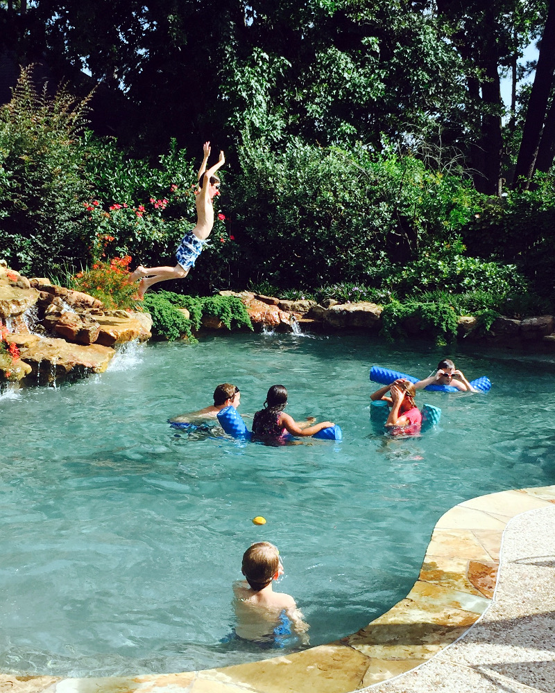 picture of kids in a swimming pool