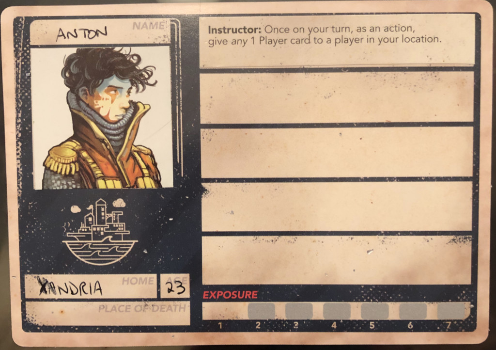 Pandemic Legacy character card Anton
