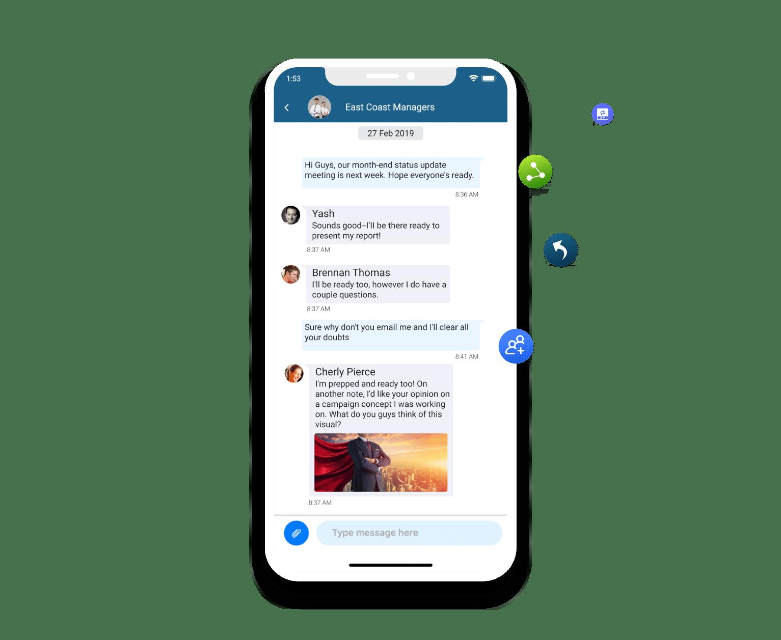 peer to peer and group messaging capabilities