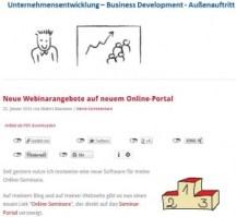 Webseite mit Siegertreppchen und Google-Suche