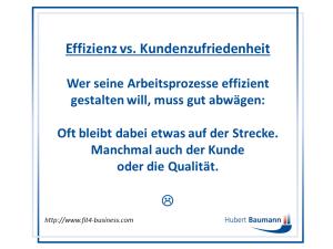 Effizienz - Kunden - Mitarbeiter - Qualität