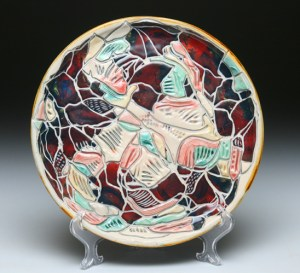 Deep Red Carved Platter72