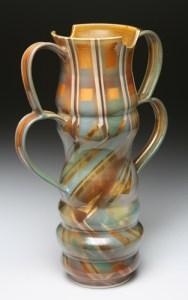 Tall Qaud Handle Vase