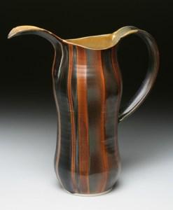 brown stripe pitcher