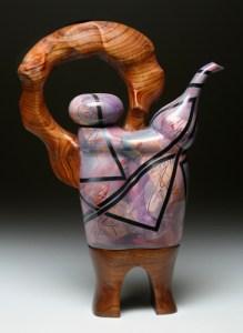 purple wood teapot