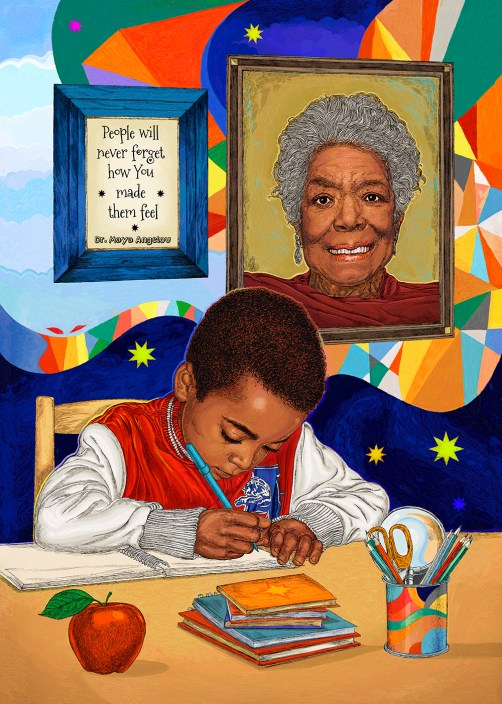 childrens illustration book illustration maya angelou by hubertfineart