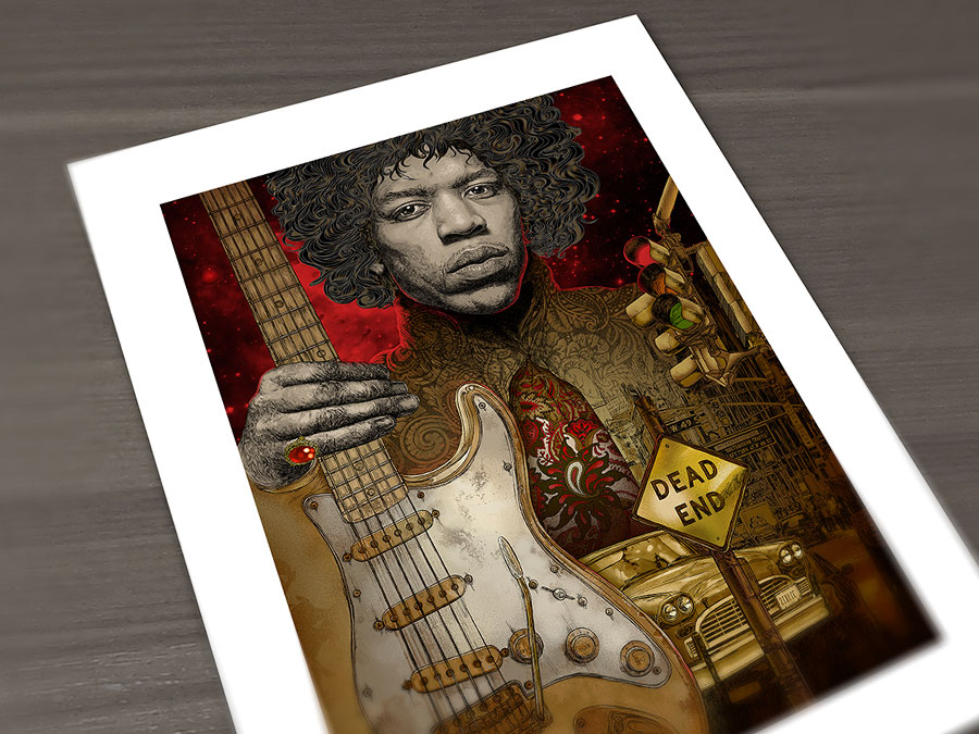jimi hendrix giclee print the of the traffic image