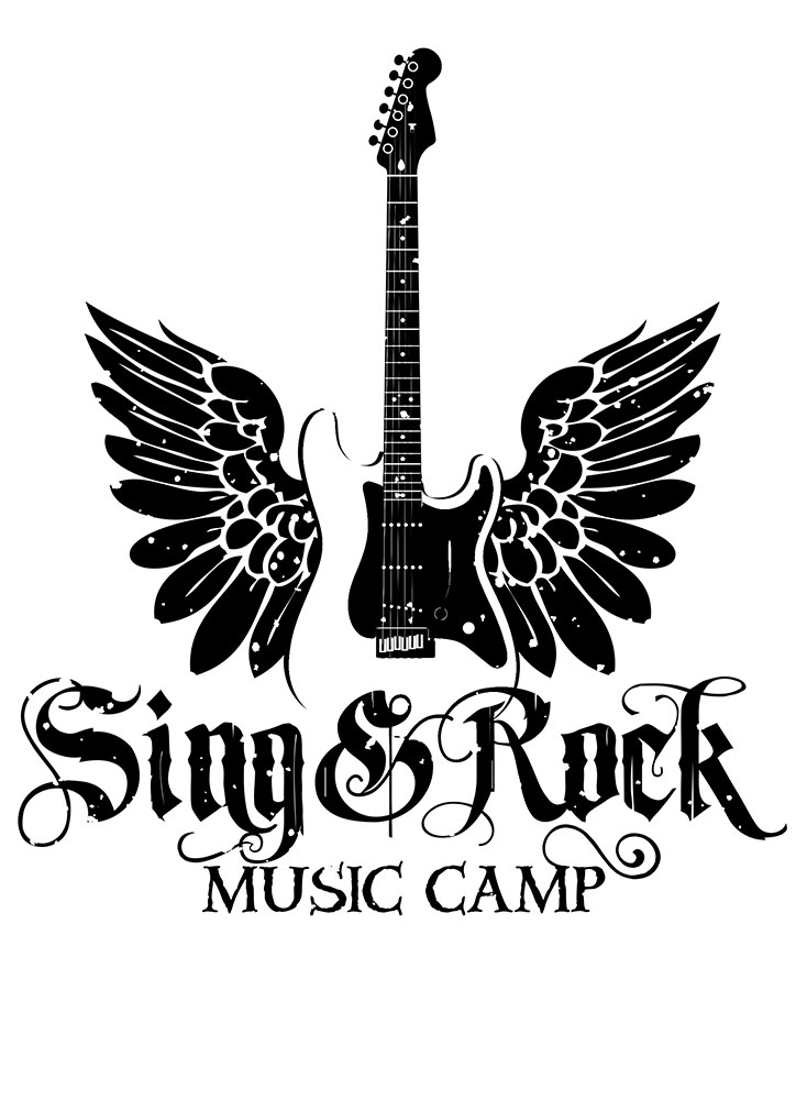 sing and rock music camp logo
