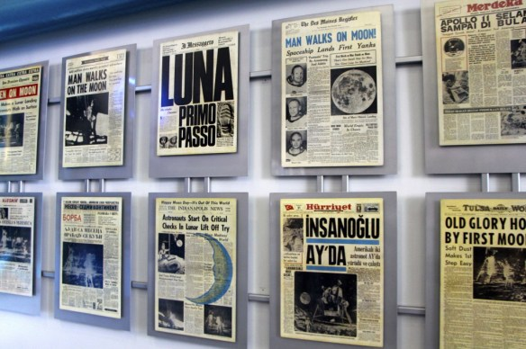 Newspapers at the Kennedy Space Center in Florida