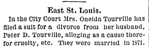 1886 st louis daily globe-democrat 7 aug 1886 p6 oneida tourville divorce