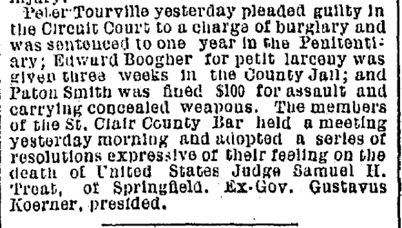 1887 04 01 p11 Peter Tourville guilty