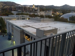 For those of you who have never been to Salt Lake city, this is the library seen from my room. Nope! Cannot be closer than that!