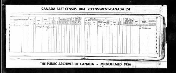 The Shoe Store of Charles in the 1861 Canadian Census.
